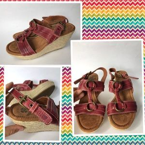 Lucky brand wedge sandals size 7 m